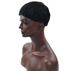 Braid Cap Wig for Crochet Braids or Weaves - BLACK