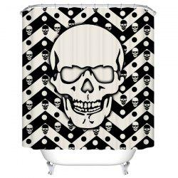 Skull Pattern Waterproof Shower Curtain Bath Decoration
