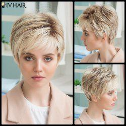 Siv Human Hair Full Bang Short Straight Wig