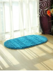 Oval Water Absorbent Polyester Fabric Antislip Bathroom Rug