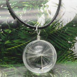 Dandelion Glass Ball Necklace -