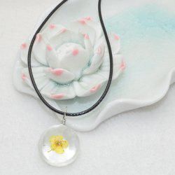 Daffodil Flower Glass Ball Necklace