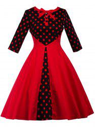 Polka Dot Retro Fit and Flare Dress