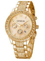Rhinestoned Quartz Wrist Watch