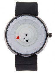 Silicone Number Turntable Watch