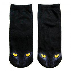 3D Black Cat Printed Crazy  Ankle Socks -