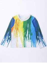 Hand-Painted Long Sleeve Tee -