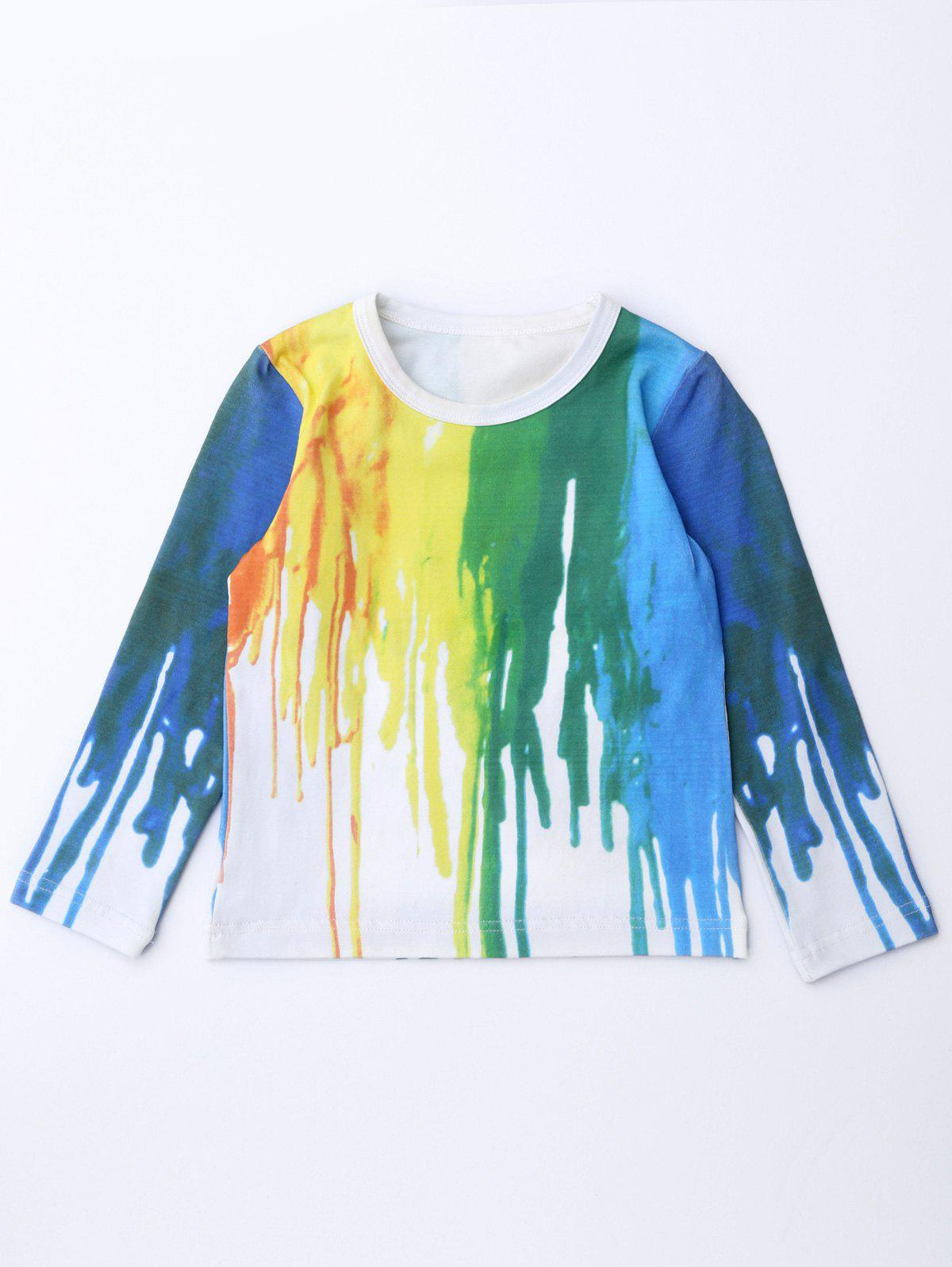 Hand-Painted Long Sleeve Tee фото