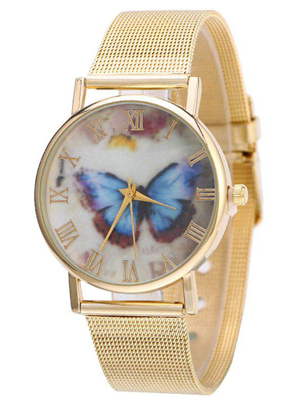 Store Metal Mesh Band Butterfly Analog Watch