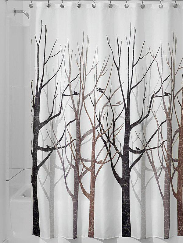 Unique Forest Print Waterproof Shower Curtain Bath Decor