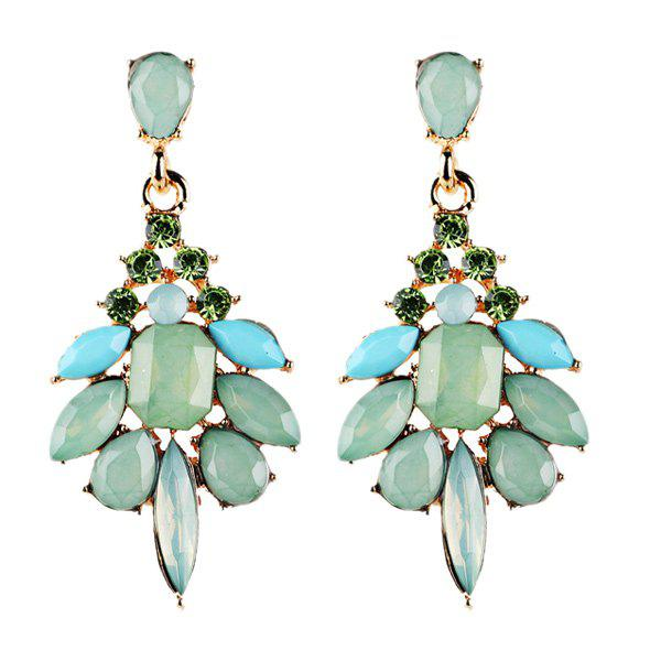 Outfit Geometric Fake Crystal Drop Earrings