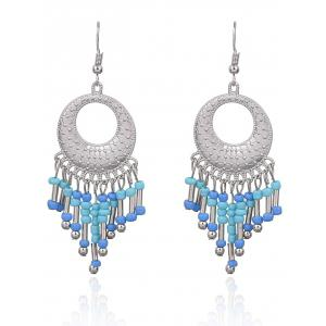 Statement Hollow Out Beads Hook Earrings