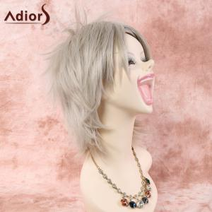 Short Straight Inclined Bang Cosplay Synthetic Wig -