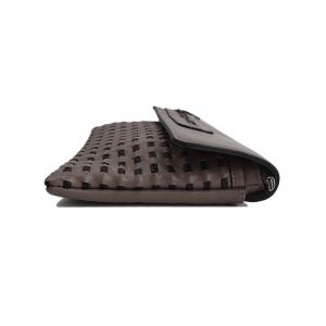 Woven Hollow Out Clutch Bag -
