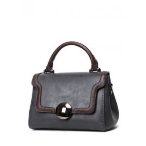 Color Insert PU Leather Handbag