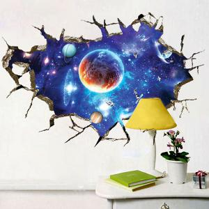 3D Space Planet Living Room Decoration Wall Stickers