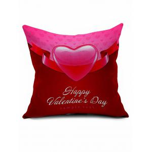 Heart Print Throw Linen Valentine Gift Pillowcase