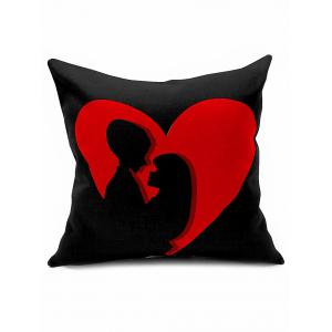 Couple Print Cushion Cover Throw Valentine Pillowcase