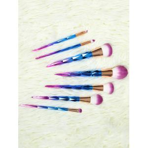 7 Pcs Ombre Fiber Makeup Brushes Set