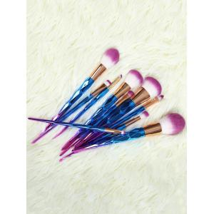 10 Pcs Ombre Fiber Makeup Brushes Set
