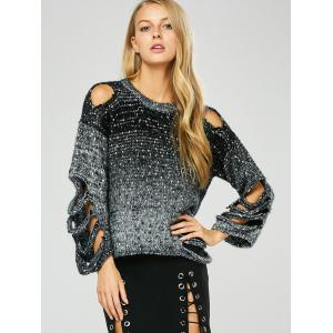 Crew Neck Cut Out Pullover Sweater