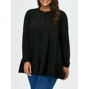 Flounce Plus Size Long Sleeve T-Shirt