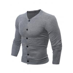 Casual V Neck Button Up Cardigan