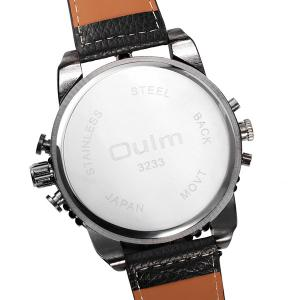 Big Dial Plate PU Leather Watch - BLACK