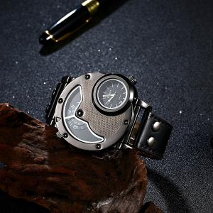 Vintage PU Leather Wrist Quartz Watch -
