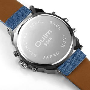 Big Dial Plate Quartz Wrist Watch - BLUE
