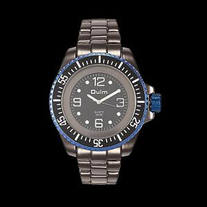 Steel Watchband Quartz Watch - Sapphire Blue + Black