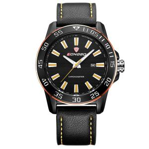 Date Waterproof Faux Leather Analog Watch