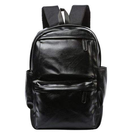 Best Casual Black and Zipper Design Backpack For Men - BLACK  Mobile