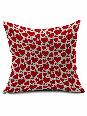 Store Love Heart Pattern Cotton Linen Pillowcase