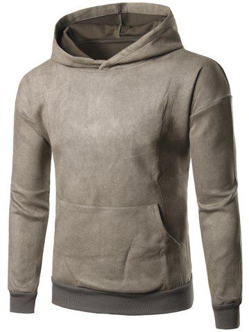 Outfits Brief Style Kangaroo Pocket Pullover Hoodie
