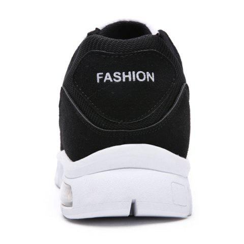 Shops Suede Tie Up Athletic Shoes - 40 WHITE AND BLACK Mobile