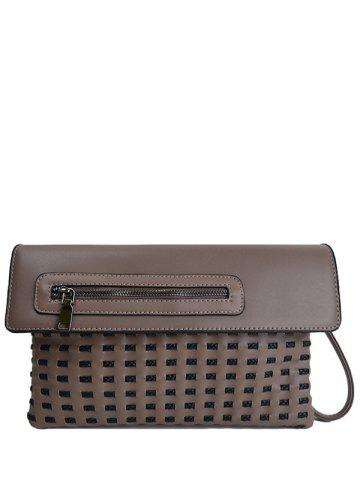Outfits Woven Hollow Out Clutch Bag
