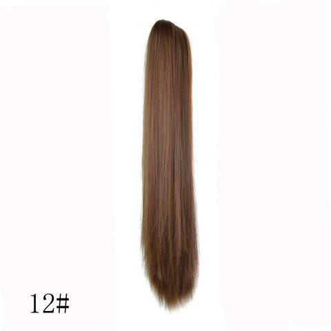 High Temperature Fiber Long Straight Ponytail - Light Coffee - 10inch