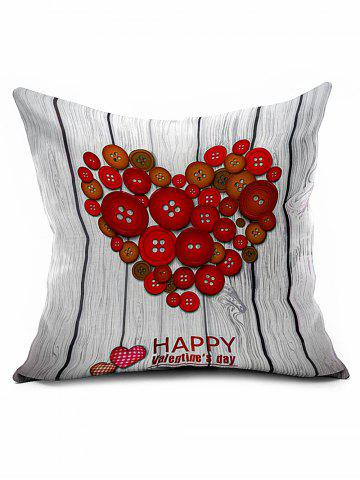 Shops Fastener Heart Cushion Cover Valentine Gift Throw Pillowcase