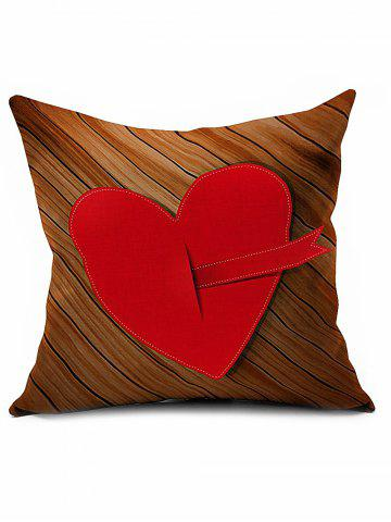 Sale Heart Embroidered Sofa Bed Decorative Valentine Linen Pillowcase