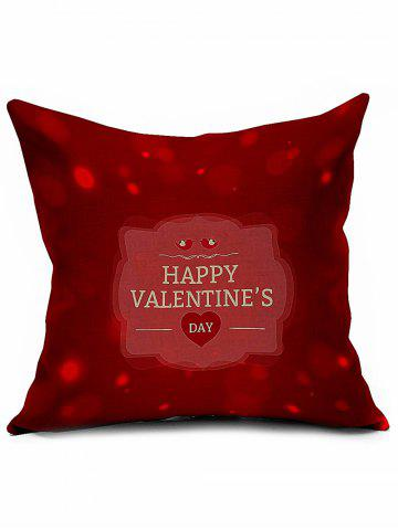 Shops Happy Valentine's Day Cushion Cover Throw Linen Pillowcase
