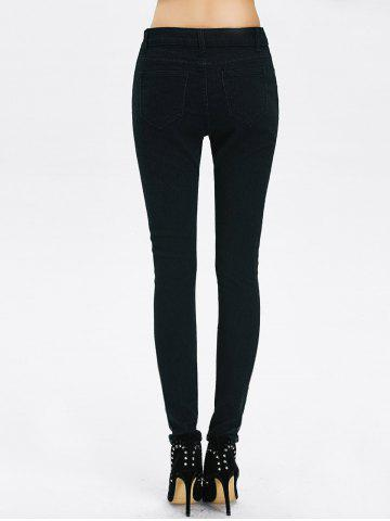 Shop High Rise Ripped Pencil Jeans - 2XL BLACK Mobile