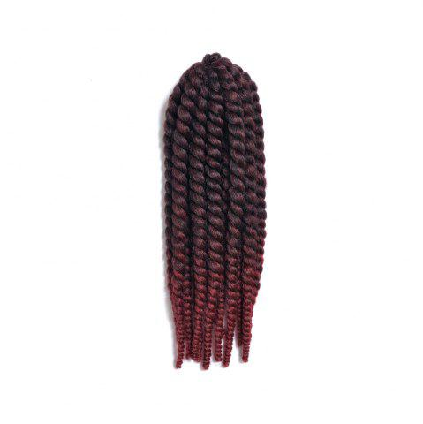 Sale Faddish Medium Braids Synthetic Senegal Twists Hair Extension - RED WITH BLACK  Mobile