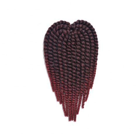 Online Faddish Medium Braids Synthetic Senegal Twists Hair Extension - RED WITH BLACK  Mobile