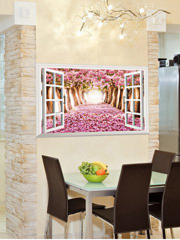 Best 3D Floral Window Design Living Room Removable Wall Stickers - PINK  Mobile