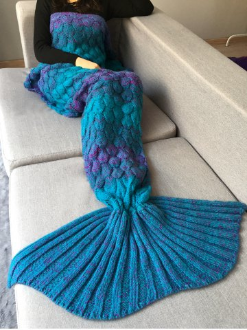 Best Fish Scale Crochet Knit Home Decor Mermaid Blanket Throw