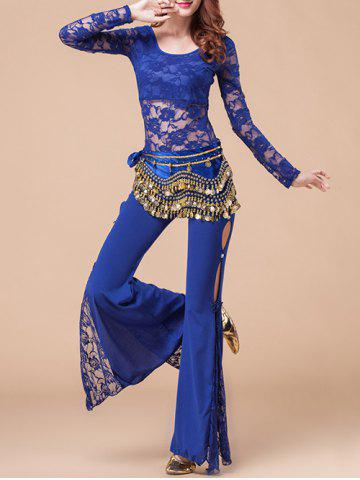 Discount Self Tied Belly Dance Waist Chain - BLUE  Mobile