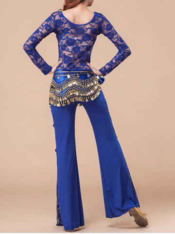 Affordable Self Tied Belly Dance Waist Chain - BLUE  Mobile