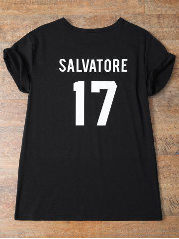 Cheap Streetwear Jewel Neck Salvatore 17 Tee