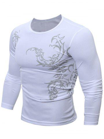 Breathable Tattoo T-Shirt - White - 2xl